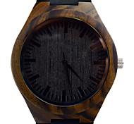 relógio de pulso de quartzo preto sândalo banda masculina de couro relógio de Miyota movt vogue relógio