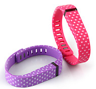 Replacement White Hearts Pattern Small Wrist Band w/ Clasp for Fitbit Flex Smart Bracelet (2pcs)
