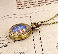 orologio da tasca signore con collana delle donne analogico moda vintage