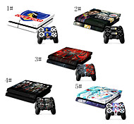 Comic Book Heroes & Villains Designer Vinyl Skin for Gaming Console and Free Controller Sticker Decal for PS4