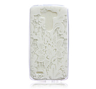 Magic Spider®White Flower Pattern Protective Soft Back Case Cover with Screen Protector for LG G3