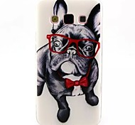Glasses Dog Pattern TPU Soft Cover  for Samsung Galaxy A3