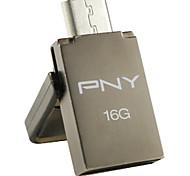 PNY OTG Duo-LINK OU5 16GB USB Flash Drive , Gray