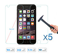 """5pcs protetor de tela venda quente vidro temperado frente filme protetor&de volta para Apple iPhone 6, além de 5,5 """""""