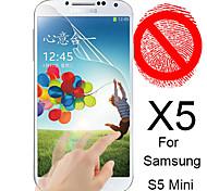 matte Displayschutzfolie für Samsung Galaxy mini s5 (5 Stück)