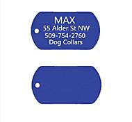 персональный подарок анодированного алюминия имя собаки ID тегов для питомца (ассорти цветов)