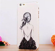 The Little Girl Pattern TPU Soft Cover for iPhone 6