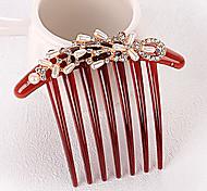 New Fashion Pearl Rhinestone Bride Seven Tooth Hair Comb
