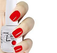 LIBEINE 1pc Soak Off 15 ML UV Gel Nail Polish Color Gel Polish 002# Classic Red