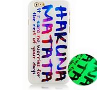 colore in inglese modello caso duro della copertura posteriore luminoso per iPhone6