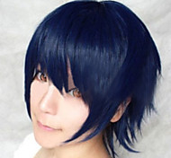 The New Cartoon Color Wig Navy Blue Face  Short Straight Hair Wigs