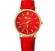 мужчин и женщин пара моды часы золотой оболочки PU пояс