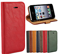 Magnetic Bark Grain PU Leather Flip Skin Cover Wallet Card Slot Case Stand for iPhone 4/4S (Assorted Colors)