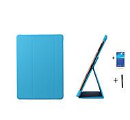 pu cubierta del caso del soporte de cuero para samsung galaxy tab 10.5 s t800 T805 + film + stylus