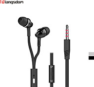 Langsdom IN22 3.5mm In-Ear Earphone with Mic Volume Control Noise-Isolating Stereo Headphone