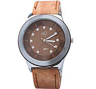 Men Watch Brand New 2015 Fashion Watch Quartz Watch High Quality PU Strap Unique Dial Design Men's Casual Watch