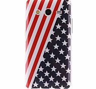 The American Flag Design TPU Soft Cover for Samsung Galaxy Core 2 G3556D/G355H