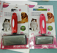 Round Handle Slip Comb Small Hardcover For Pets