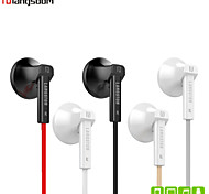 Langsdom Q5 Flat Earphone Volume Control Earphone with Mic for Iphone 6/6 Plus Galaxy S4 S5