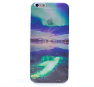 Green Scenery Pattern Semipermeable Scrub PC Material Phone Case for iPhone 6