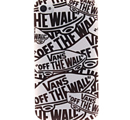 Cartoon Letters TPU Soft Case for iPhone 4/4S