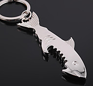 Stainless Steel Shark Bottle Opener Key Chain Ring Keyring Key Holder