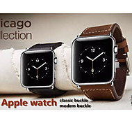 38MM Classic Buckle Genuine Chicago Collection Leather Watch Band  Strap Replacement for Apple Watch