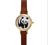 Women's/Men's Round Dial Case Leather Watch Brand Fashion Quartz Watch(More Color Available)