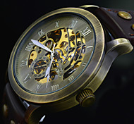 Men's Wrist Watch Automatic Self Wind Leather Band Mechanical Watch (Assorted Colors)
