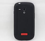xmart® caso trasero suave cubierta sliciilicone para las cajas del teléfono celular mini-i8190 samsung galaxy s3 (colores surtidos)