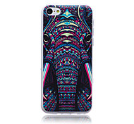 Beast Elephant Head Pattern TPU Soft Back Cover Case for iPhone 5C