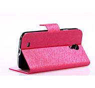 motif de soie lisse avec un sac de carte pu cas complet du corps pour Samsung Galaxy i9500 s4 (de couleurs assorties)