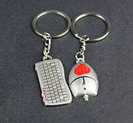 Alloy Mouse Keyboard Lovers Key Chain