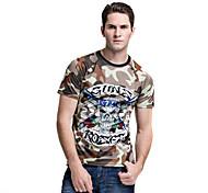 forider® casual wear t-shirt de manga curta montada rapidamente secos homens t-shirt equitação cinza sportswear camuflagem
