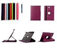 8 inch 360 graden rotatie lichee patroon stand case voor Samsung Galaxy Tab als T350 sm-T350 / T351 (verschillende kleuren)