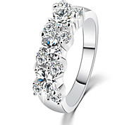 HUALUO®Simple Wild Irregular Crystal CZ Ring