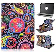 360-Grad-Drehung PU-Leder-PC-Kasten mit flexiblen Riemen und Halter für Samsung Galaxy Tab 9.7 einen T550