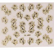 Dedo/Dedo del Pie - Abstracto/Encantador - Calcomanías de Uñas 3D/Arte de Uña de Polímeros - PVC - 1 sheet - 8*8 - ( cm )