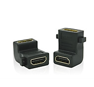 90 grados hembra HDMI a HDMI convertidor adaptador hembra