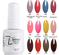 LIBEINE Soak Off 15 ML UV Gel Nail Polish Color Gel Polish Assorted Colors No.074-085
