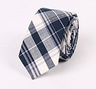 Blue And Gray Cotton Fine Grid Tie