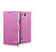 Smooth Silk Pattern with Card Bag PU Full Body Case for Samsung Premier I9260 (Assorted Color)