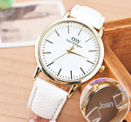 Personalized Gift Casual Watch Leather Strap Engraved Watch