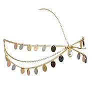 European Style Fashion Chain Tri-color Headband