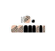 16PCS Mix Sizes Other False Toe Nail Art Stickers Decal for Foot Toes Nail Art Decorations F1017