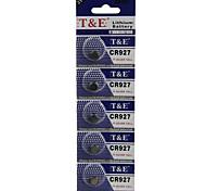 t&pilas de botón de litio de alta capacidad e CR927 3v (5pcs)