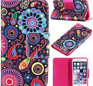 Colorful Circle Pattern with Card Bag Full Body Case for iPhone 6