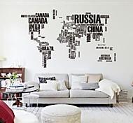 190см * 116cm большие карта мира настенные наклейки оригинальные zooyoo95ab буквы карту Wall Art стене спальни наклейки