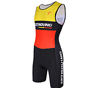 GETMOVING Triathlon Red+Black Sleeveless Wear and Shorts Conjoined Cycling Clothing