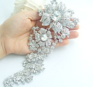 Wedding Accessories Silver-tone Clear Rhinestone Crystal Bridal Brooch Wedding Deco Orchid Flower Brooch Bridal Bouquet